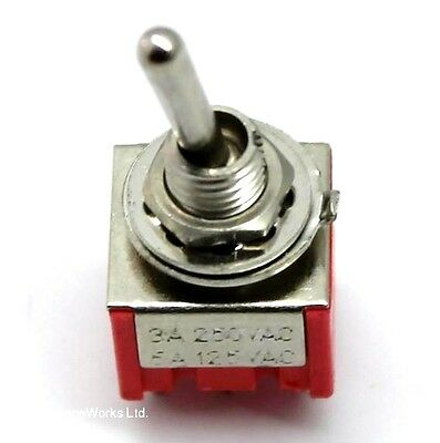 DPDT Mini Toggle Switch (On/Off/On) for coil tapping, etc. UK SELLER