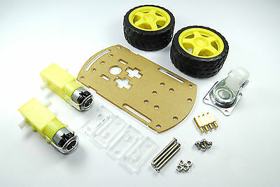 2 Wheel Robotic Car DIY Kit Line Following Frame Arduino Rasp Pi Flux Workshop