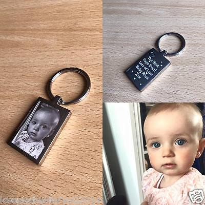 Personalised Photo Engraved Premium Keyrings / Keychain - Fathers Day Gift