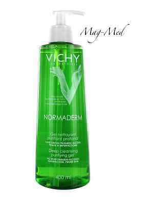Vichy Normaderm 400ml Deep Cleansing Purifying Gel Prone Skin UK STOCK