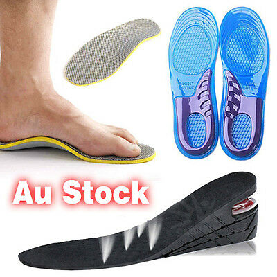 Shoe Insoles Pads Heightening Height Heel Massaging FlatFoot Orthotic Support