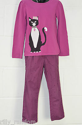 Girls Purple Long Sleeved Top And Trousers Mixed Brands UK Age 5 - 6 Years