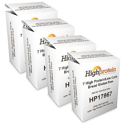 28 High Protein/Low Carb VLCD Bread Mixes Gluten Free with 15g Protein HP17867