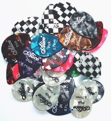 12 x Small Tear Drop Guitar Picks Plectrums Choose 6 Gauges Acoustic Electric