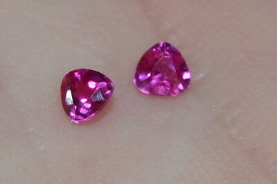 A Single Gorgeous 3mm VVS Trillion Cut Genuine Red Ruby!!!