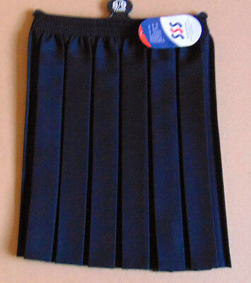 girls black box pleat school skirt