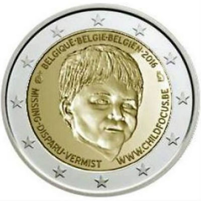 2 Euro commémorative Belgique 2016 - Child Focus Unc