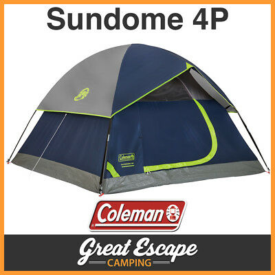 Coleman Sundome 4 Person Outdoor Hiking Camping Tent