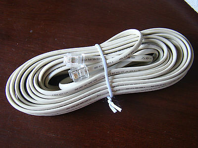 25FT feet RJ11 6P4C Modular Telephone Extension Cable Phone Cord Line Wire Beige