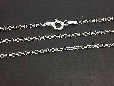 "30"" Long Round Belcher chain solid Sterling Silver 925. UK Seller. Reliable."