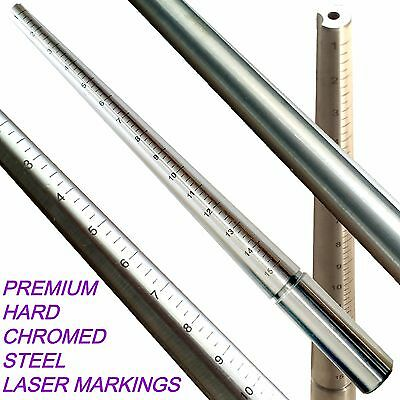 Jewelers Ring Mandrel Grooved US 1-15 Steel Ring sizing gauge Stick heavy Delux