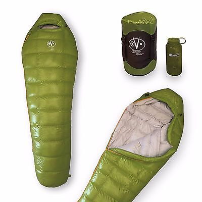 Outdoor Vitals - 0 Degree High Quality Down Sleeping Bag, Ultra Compact (Green)