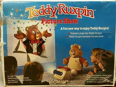 Vintage 1989 The World Of Wonders Teddy Ruxpin Picture Show Projector