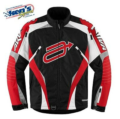 ARCTIVA Men's Red & Black COMP 7 INSULATED Winter Snowmobile Jacket