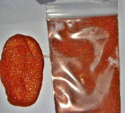 "25g Deep Orange sparkle metal flakes Halo Holographic.004"" Dupont PPG Flames"