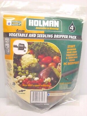 HOLMAN 4mm 4Ltr/h Vegetable And Seedling Dripper Pack 22 Pieces HA7035