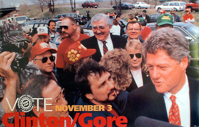 1992 Bill Clinton United Auto Workers Campaign Poster (6367)