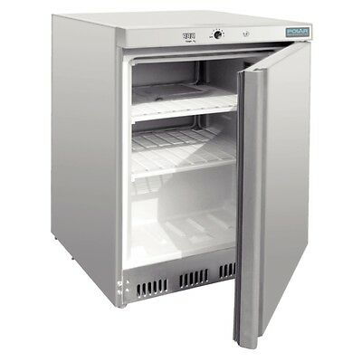 Polar CD081-A Undercounter Commercial Freezer 140Lt Stainless Steel Cafe