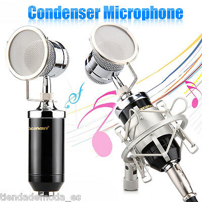Professional Condenser Microphone Studio Recording With Shock Mount Black BM8000