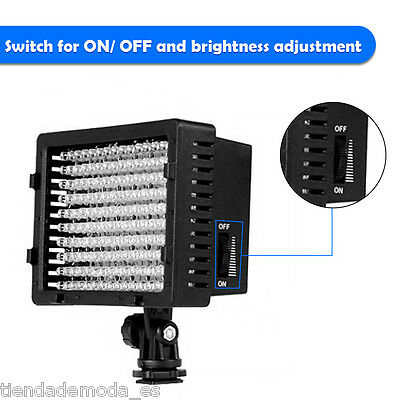 Lightdow Pro 160 LED Video Lamp Light for Canon Nikon Pentax Camera DV Camcorder