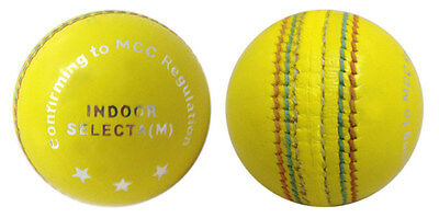 Indoor Leather Mens Cricket Balls Yellow  Cricket Ball