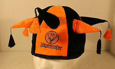 Jagermeister Mardi Gras Jester Fool Funny Novelty Hat Cap Orange Black Lid