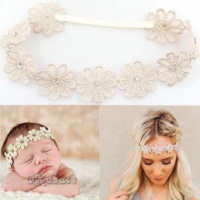 Best Baby Girl Sunflower Bohemia Flower Elastic Hairband Headband Wedding Gift