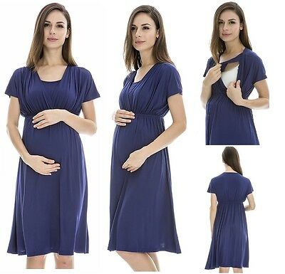 Maternity & breastfeeding dress,nursing dress,formal office wear,short sleeve