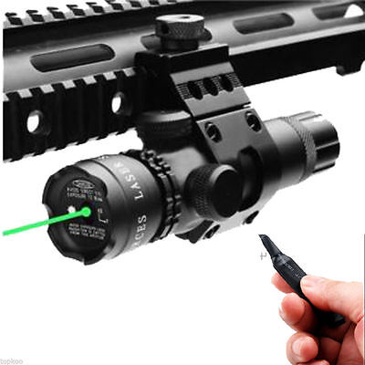 Tactical Green Laser Sight & Remote Switch With Rail straight Mount for Rifle