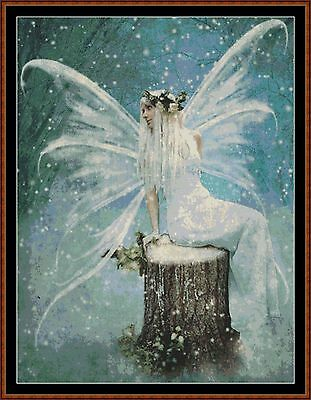 Cross Stitch Chart ( Pattern ) - SNOW FAIRY *CD Delivery*