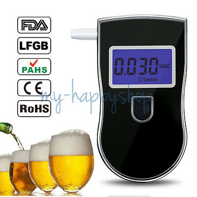Pro Police Digital Breath Alcohol Tester Breathalyzer LCD Display alcotester UK