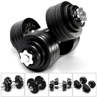 Yes4All Cast Iron Adjustable Dumbbells Weight Gym Set 40 to 200 lbs (Set of 2)