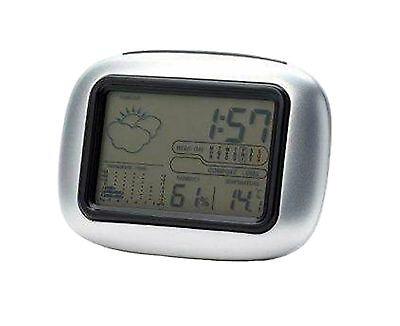 New Digital LCD Weather Station Alarm Clock Temperature Humidity Calendar