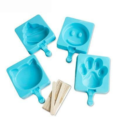 Frozen Ice Cream Silicone mold Popsicle Maker Lolly Mould Kitchen DIY Pop molds