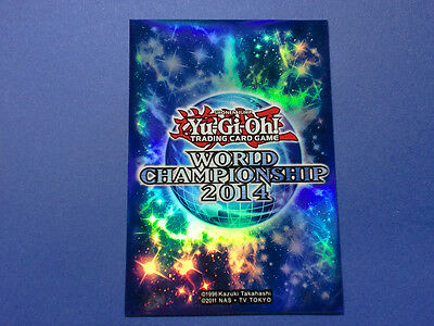 YuGiOh Limited Official Promo Card Sleeve 2014 World Championship 50pcs JAPAN FS