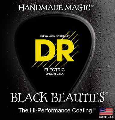 DR Strings Black Beauties Coated Electric Bass Guitar Strings USA made