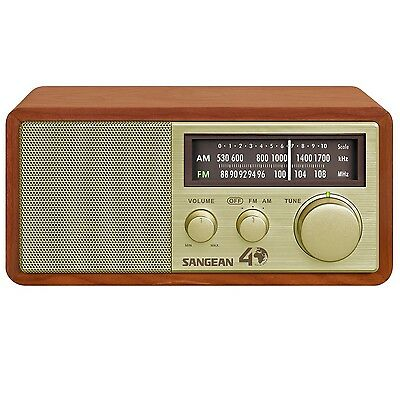 Sangean AM/FM Table Top Radio 40th Anniversary Special Edition In Walnut Finish