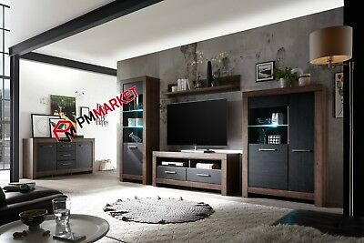 Living Room High Gloss Furniture Display Wall Unit Modern TV Unit Cabinet MOON