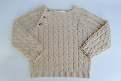 Marie Chantal Baby Wool And Cashmere Cable Sweater Size 18 Months