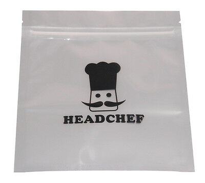 10 X Headchef Extra Strong Reusable Smell Proof Baggies - Choose From 2 Sizes