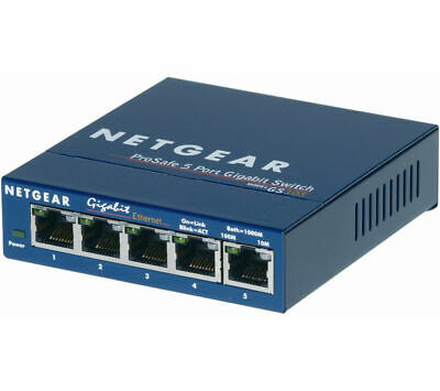 NETGEAR GS105 ProSafe® 5 port Gigabit Ethernet Switch Network speed	10 Gbps