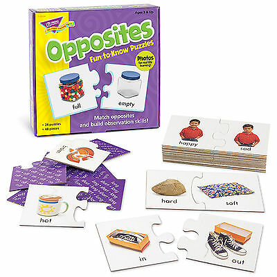 Opposites Fun-to-Know® Puzzles Educational Game - Ideal 4 Teachers - Age 3+