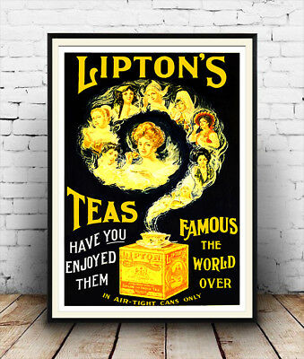 REPRINT PICTURE of old LIPTON/'S TEAS ad DIRECT FROM THE GARDENS CEYLON 7x5