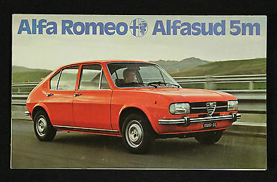brochure pubblicitaria alfasud alfa romeo pubblicit auto automobile anni 70 eur 15 00. Black Bedroom Furniture Sets. Home Design Ideas