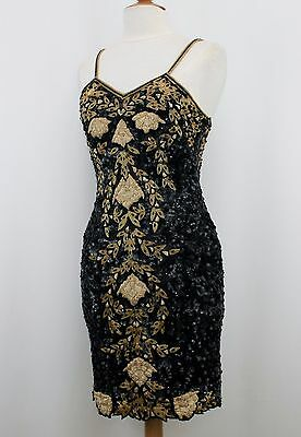 Jasdee Vintage Dress Hand Work Sequin Beads & Zari Gotta On Silk Style 5011M