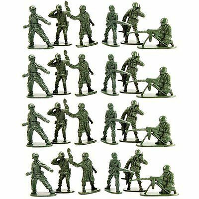 Classic Set of 24 x Traditional Green Toy Army Soldiers Troopers