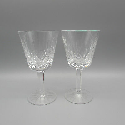 SET OF TWO - Waterford Crystal LISMORE Claret / Large Red Wine Glasses