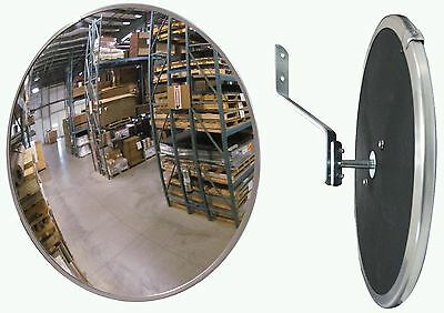 "#1 Industrial Rated 12"" Acrylic Indoor/Outdoor Safety & Security Convex Mirror"