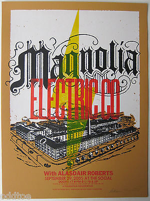 MAGNOLIA ELECTRIC CO ORIGINAL 2005 CONCERT POSTER  by Thomas Scott, Signed ONLY