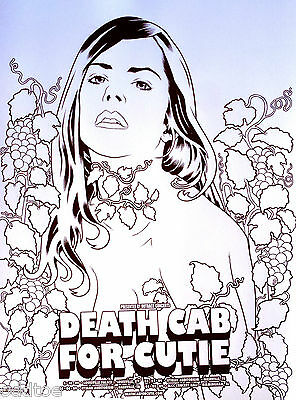 DEATH CAB FOR CUTIE, ORIG. 2004 Tour Concert Poster signed by Brian Ewing, MINT